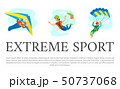 Extreme Sports Set on Poster, Skydiving Gliding 50737068