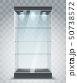 Empty glass showcase 50738572