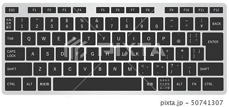 リアルな日本語キーボード(黒) 50741307
