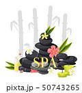 スパ ストーン 石のイラスト 50743265