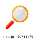 Icon of magnifying glass in flat style. 50744175