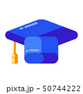 Icon of graduate cap in flat style. 50744222
