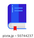 Icon of school book with bookmark in flat style. 50744237