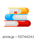 Icon stack of books in flat style. 50744241