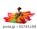 Brunette topless in artistic beautiful skirt 50745198
