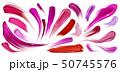 Smears of lipstick, nail polish, brush strokes set 50745576