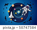 Astronaut floating in the stratosphere . 50747384