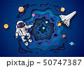 Astronaut floating in the stratosphere . 50747387