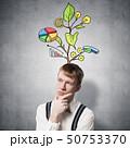 思索 考え インフォグラフィックの写真 50753370