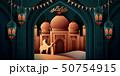 Ramadan with arabesque mosque 50754915