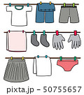 vector set of drying clothes 50755657