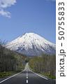 羊蹄山と一本道(ビューポイントパーキングからの眺め) 50755833