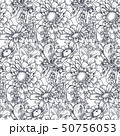 花 柄 パターンのイラスト 50756053