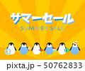 サマーセール SUMMER SALE ペンギン イラスト  50762833