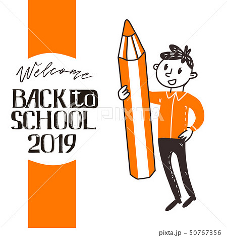 Back to school boy and pencil 50767356