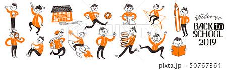 Big set of Back to school teenagers 50767364