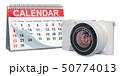 カレンダー 暦 デジタルカメラのイラスト 50774013