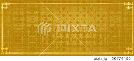 golden chinese square abstract banner with golden 50774430
