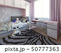 寝室 女の子らしい ベッドのイラスト 50777363