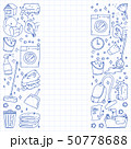 cleaning services company vector monochrome pattern on blue background, drawing pen. 50778688