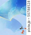 背景-和-和風-和柄-和紙-金魚-夏-祭り-扇-水色-夏休み 50788528