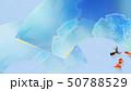 背景-和-和風-和柄-和紙-金魚-夏-祭り-扇-水色-夏休み 50788529