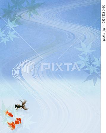 背景-和-和風-和柄-和紙-金魚-紅葉-夏-祭り-水色-夏休み 50788640