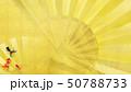 背景-和-和風-和柄-和紙-金魚-夏-祭り-夏休み-金箔-扇 50788733