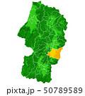 山形県と山形市地図 50789589