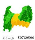 富山県と富山市地図 50789590