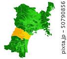 宮城県と仙台市地図 50790856