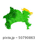 神奈川県と川崎市地図 50790863