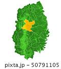 岩手県と盛岡市地図 50791105