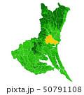 茨城県と水戸市地図 50791108