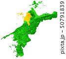 愛媛県と松山市地図 50791839