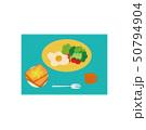 食べ物 トースト 朝食のイラスト 50794904