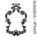 鏡 フレーム バロック様式のイラスト 50800630