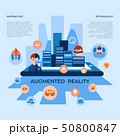 Augmented reality technology icons 50800847