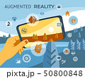 Augmented reality technology icons 50800848