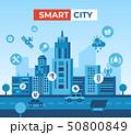 Smart city icons infographics 50800849