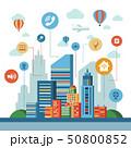 Smart city icons infographics 50800852