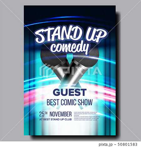 Invitation Poster On Stand Up Concert Show Vector 50801583