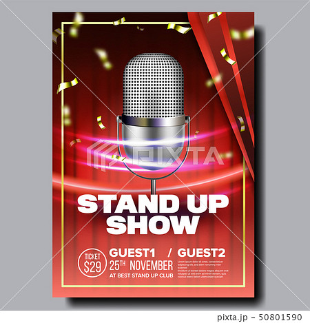 Advertising Flyer Banner On Stand Up Show Vector 50801590