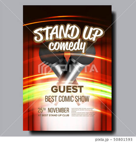 Advertising Poster Of Comedy Show In Club Vector 50801593
