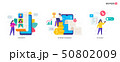 People use gadgets. set of icons, illustration 50802009