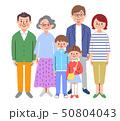 家族 3世代 笑顔のイラスト 50804043