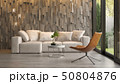 Interior of modern living room with sofa 3D rendering 50804876
