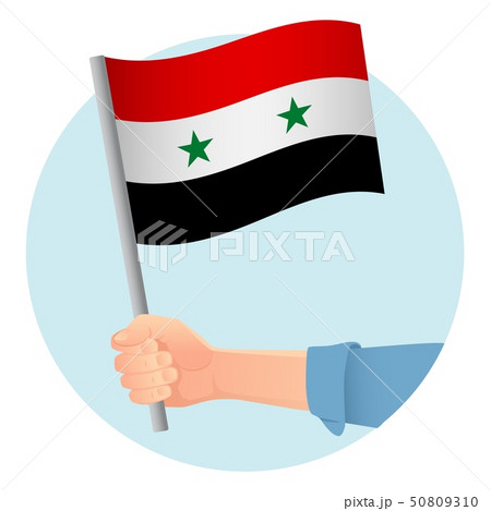 syria flag in hand icon 50809310