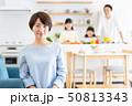 親子 料理 食卓 ファミリーイメージ 50813343