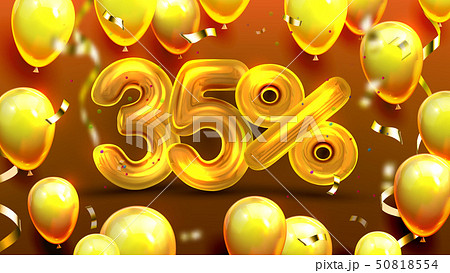 Thirty Five Percent Or 35 Marketing Offer Vector 50818554